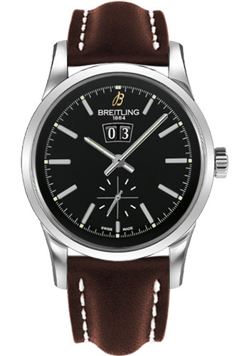 Breitling Watches - Transocean 38 Leather Strap - Tang - Style No: A1631012/BD15-leather-brown-tang