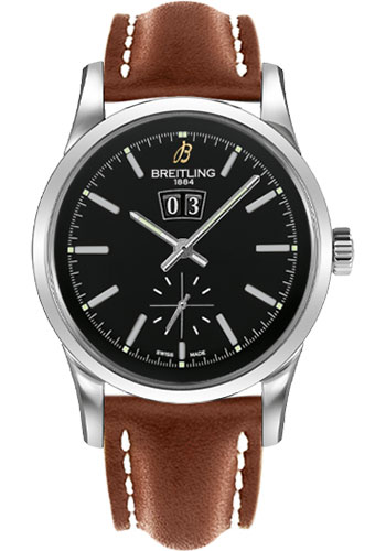 Breitling Watches - Transocean 38 Leather Strap - Tang - Style No: A1631012/BD15-leather-gold-tang