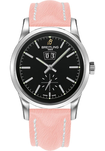 Breitling Watches - Transocean 38 Sahara Strap - Deployant - Black Dial - Style No: A1631012/BD15-sahara-rose-deployant