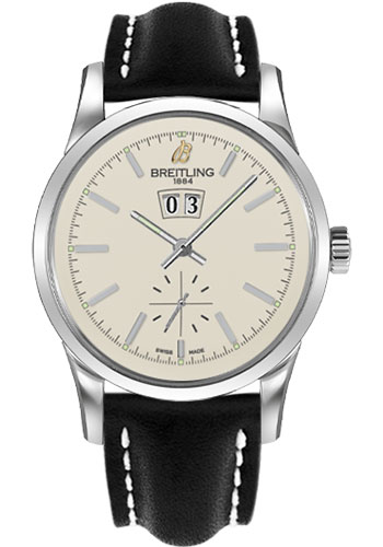 Breitling Watches - Transocean 38 Leather Strap - Tang - Style No: A1631012/G781-leather-black-tang