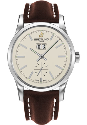 Breitling Watches - Transocean 38 Leather Strap - Tang - Style No: A1631012/G781-leather-brown-tang