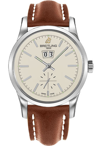 Breitling Watches - Transocean 38 Leather Strap - Tang - Style No: A1631012/G781-leather-gold-tang