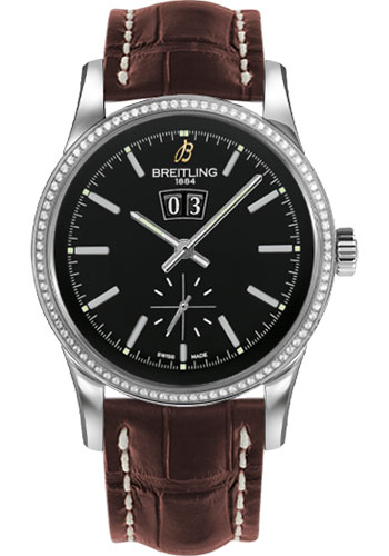 Breitling Watches - Transocean 38 Dia Bezel - Croco Strap - Deployant - Style No: A1631053/BD15-croco-brown-deployant