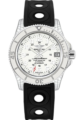 Breitling Watches - Superocean II 36mm - Diamond Case - Ocean Racer II Strap - Style No: A1731267/A775-ocean-racer-ii-black-tang