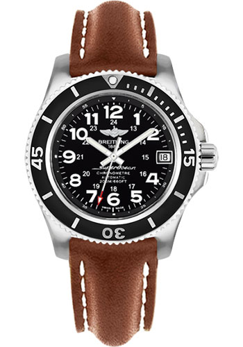 Breitling Watches - Superocean II 36mm - Leather Strap - Deployant - Style No: A17312C9/BD91-leather-gold-deployant