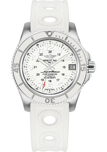 Breitling Watches - Superocean II 36mm - Ocean Racer II Strap - Style No: A17312D2/A775-ocean-racer-ii-white-tang