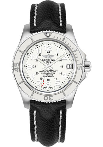 Breitling Watches - Superocean II 36mm - Sahara Strap - Deployant - Style No: A17312D2/A775-sahara-black-deployant
