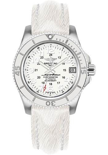 Breitling Watches - Superocean II 36mm - Sahara Strap - Deployant - Style No: A17312D2/A775-sahara-white-deployant