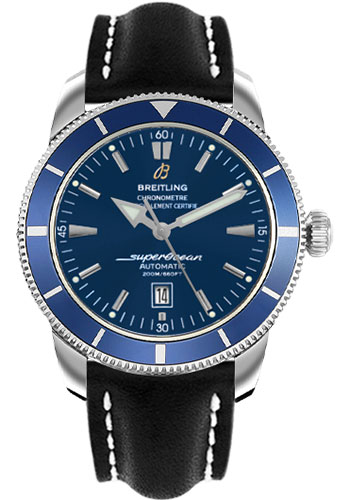 Breitling Watches - Superocean Heritage 46 Leather Strap - Style No: A1732016/C734-leather-black-deployant