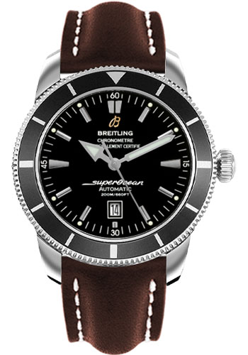Breitling Watches - Superocean Heritage 46 Leather Strap - Tang - Style No: A1732024/B868-leather-brown-tang