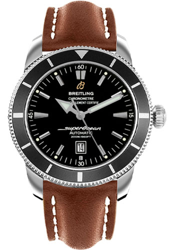 Breitling Watches - Superocean Heritage 46 Leather Strap - Tang - Style No: A1732024/B868-leather-gold-tang