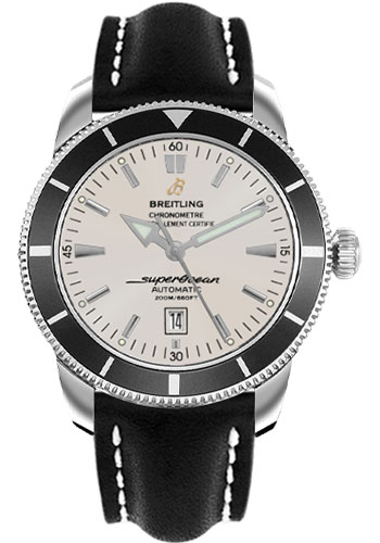 Breitling Watches - Superocean Heritage 46 Leather Strap - Style No: A1732024/G642-leather-black-deployant