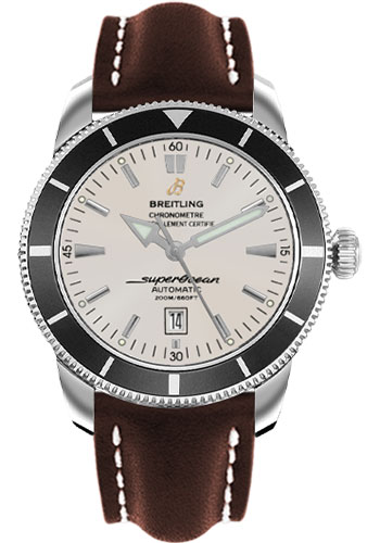 Breitling Watches - Superocean Heritage 46 Leather Strap - Tang - Style No: A1732024/G642-leather-brown-tang