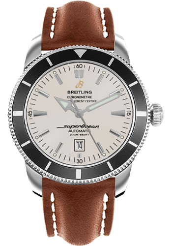 Breitling Watches - Superocean Heritage 46 Leather Strap - Deployant - Style No: A1732024/G642-leather-gold-deployant