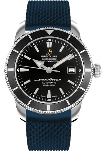 Breitling Watches - Superocean Heritage 42 Aero Classic Rubber Strap - Tang - Style No: A1732124/BA61-aero-classic-rubber-blue-tang