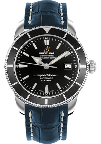 Breitling Watches - Superocean Heritage 42 Croco Strap - Tang - Style No: A1732124/BA61-croco-blue-tang