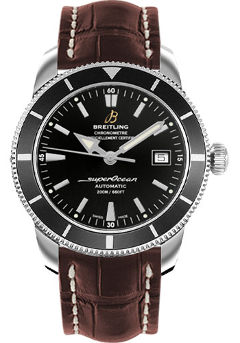 Breitling Watches - Superocean Heritage 42 Croco Strap - Tang - Style No: A1732124/BA61-croco-brown-tang