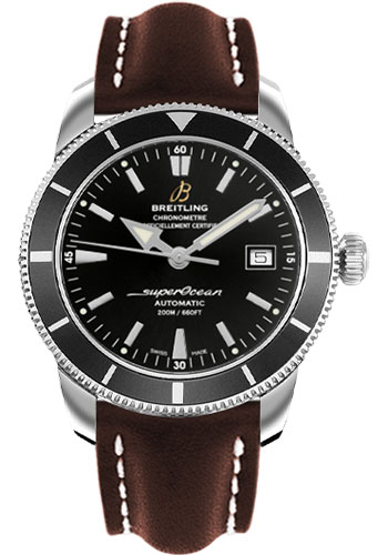 Breitling Watches - Superocean Heritage 42 Leather Strap - Deployant - Style No: A1732124/BA61-leather-brown-deployant