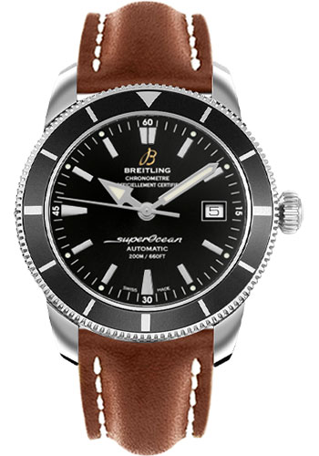 Breitling Watches - Superocean Heritage 42 Leather Strap - Deployant - Style No: A1732124/BA61-leather-gold-deployant