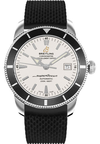 Breitling Watches - Superocean Heritage 42 Aero Classic Rubber Strap - Tang - Style No: A1732124/G717-aero-classic-rubber-black-tang