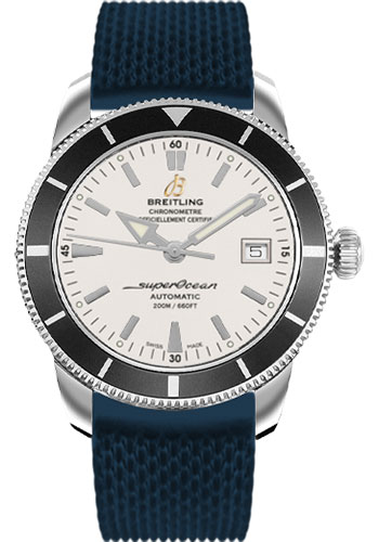 Breitling Watches - Superocean Heritage 42 Aero Classic Rubber Strap - Tang - Style No: A1732124/G717-aero-classic-rubber-blue-tang