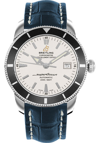 Breitling Watches - Superocean Heritage 42 Croco Strap - Tang - Style No: A1732124/G717-croco-blue-tang
