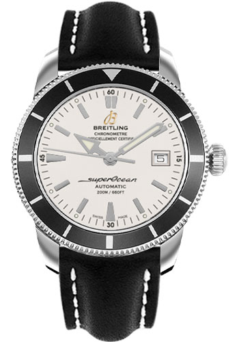 Breitling Watches - Superocean Heritage 42 Leather Strap - Deployant - Style No: A1732124/G717-leather-black-deployant