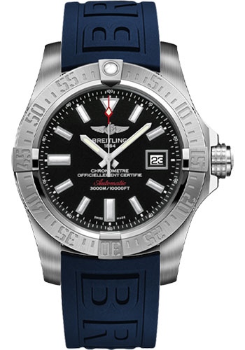 Breitling Watches - Avenger II Seawolf Diver Pro III Strap - Deployant Buckle - Style No: A1733110/BC30-diver-pro-iii-blue-deployant