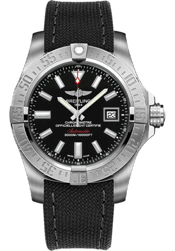 Breitling Watches - Avenger II Seawolf Military Strap - Tang Buckle - Style No: A1733110/BC30-military-anthracite-tang