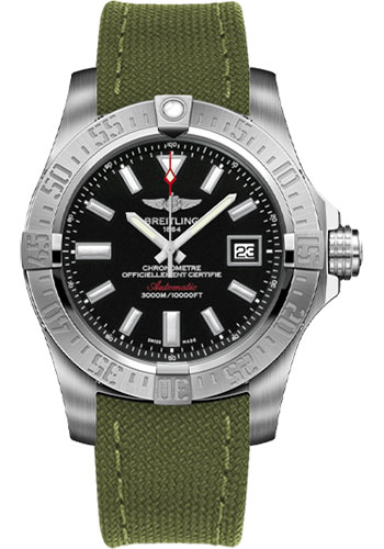 Breitling Watches - Avenger II Seawolf Military Strap - Tang Buckle - Style No: A1733110/BC30/106W/A20BASA.1