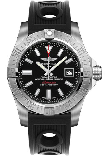 Breitling Watches - Avenger II Seawolf Ocean Racer Strap - Style No: A1733110/BC30-ocean-racer-black-deployant