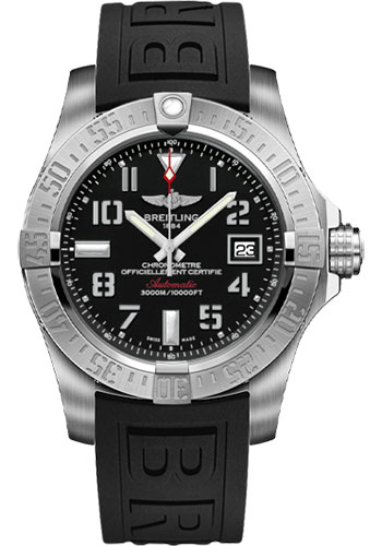 Breitling Watches - Avenger II Seawolf Diver Pro III Strap - Deployant Buckle - Style No: A1733110/BC31-diver-pro-iii-black-deployant