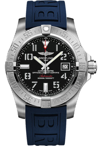 Breitling Watches - Avenger II Seawolf Diver Pro III Strap - Deployant Buckle - Style No: A1733110/BC31-diver-pro-iii-blue-deployant