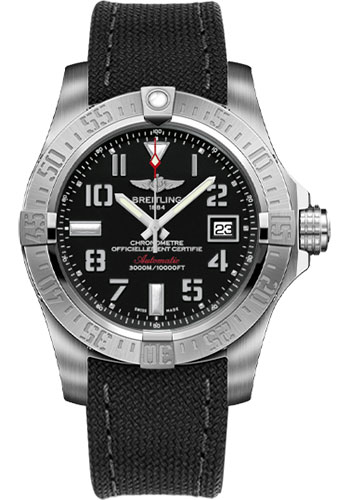 Breitling Watches - Avenger II Seawolf Military Strap - Tang Buckle - Style No: A1733110/BC31-military-anthracite-tang