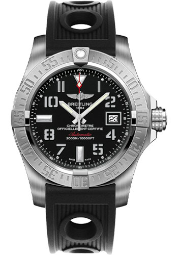 Breitling Watches - Avenger II Seawolf Ocean Racer Strap - Style No: A1733110/BC31-ocean-racer-black-deployant