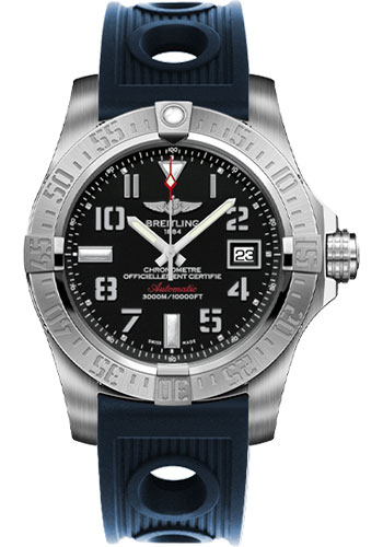 Breitling Watches - Avenger II Seawolf Ocean Racer Strap - Style No: A1733110/BC31-ocean-racer-blue-deployant