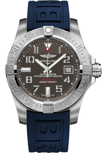Breitling Watches - Avenger II Seawolf Diver Pro III Strap - Deployant Buckle - Style No: A1733110/F563-diver-pro-iii-blue-deployant