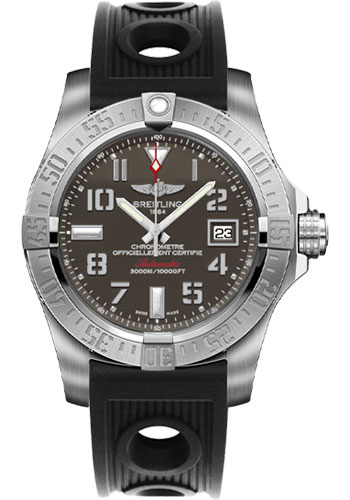 Breitling Watches - Avenger II Seawolf Ocean Racer Strap - Style No: A1733110/F563-ocean-racer-black-deployant