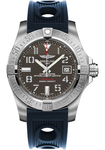 Breitling Watches - Avenger II Seawolf Ocean Racer Strap - Style No: A1733110/F563-ocean-racer-blue-deployant