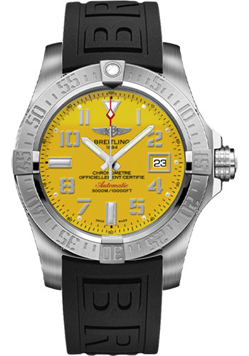 Breitling Watches - Avenger II Seawolf Diver Pro III Strap - Tang Buckle - Style No: A1733110/I519-diver-pro-iii-black-tang