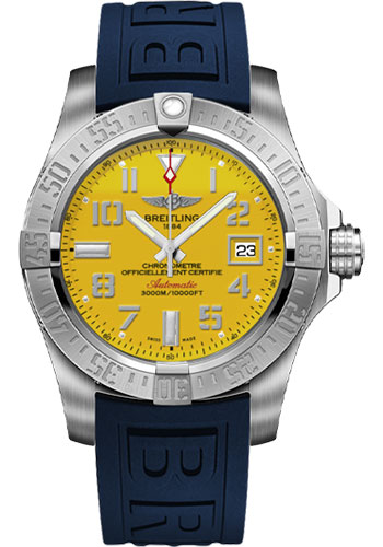 Breitling Watches - Avenger II Seawolf Diver Pro III Strap - Deployant Buckle - Style No: A1733110/I519-diver-pro-iii-blue-deployant