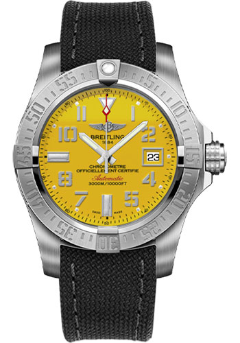 Breitling Watches - Avenger II Seawolf Military Strap - Tang Buckle - Style No: A1733110/I519-military-anthracite-tang