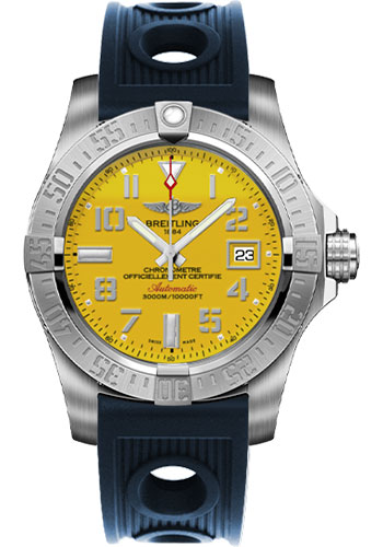 Breitling Watches - Avenger II Seawolf Ocean Racer Strap - Style No: A1733110/I519-ocean-racer-blue-deployant