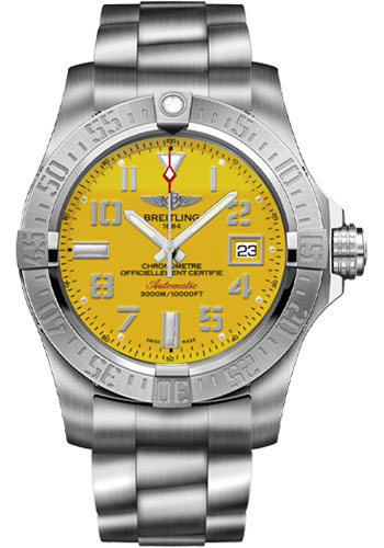 Breitling Watches - Avenger II Seawolf Stainless Steel Bracelet - Style No: A1733110/I519-professional-iii-steel