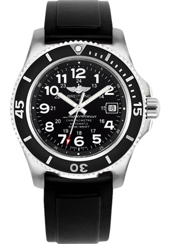 Breitling Watches - Superocean II 42mm - Diver Pro II Strap - Deployant - Style No: A17365C9/BD67-diver-pro-ii-black-deployant