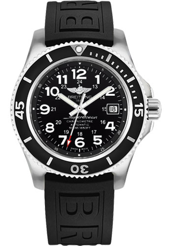 Breitling Watches - Superocean II 42mm - Diver Pro III Strap - Tang - Style No: A17365C9/BD67-diver-pro-iii-black-tang
