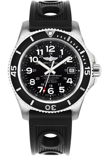 Breitling Watches - Superocean II 42mm - Ocean Racer Strap - Style No: A17365C9/BD67-ocean-racer-black-tang