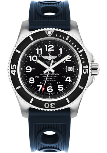 Breitling Watches - Superocean II 42mm - Ocean Racer Strap - Style No: A17365C9/BD67-ocean-racer-blue-tang