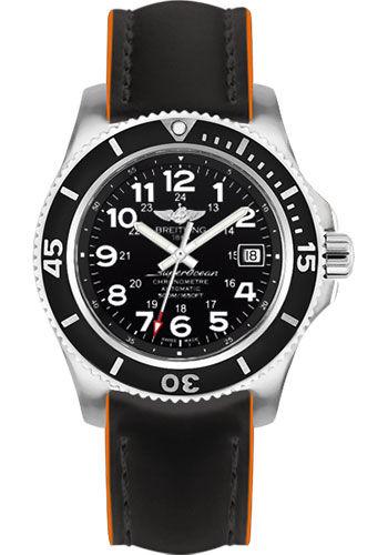 Breitling Watches - Superocean II 42mm - Superocean Strap - Style No: A17365C9/BD67-superocean-black-orange-tang
