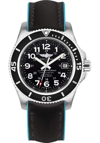 Breitling Watches - Superocean II 42mm - Superocean Strap - Style No: A17365C9/BD67-superocean-black-royal-blue-tang